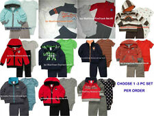 * NWT NEW BOYS 3PC CARTERS SWEATER WINTER OUTFIT SET 3m 6m 9m 12m 18m 24m
