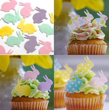 Easter Bunny Stand Up Cupcake Decorations - Edible Wafer Bunny Cake Toppers