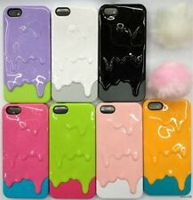 Newest fashion 3D Melt ice-Cream Melting Skin Hard Case Cover For i Phone 5 5G t