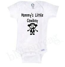 PAPA'S LITTLE COWBOY Onesie Baby Shower Gift Funny Cute INFANT T-SHIRT YOUR NAME