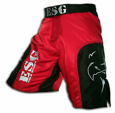 Majestic Red ESG MMA Kick Boxing Fighter Grappling Cage Shorts