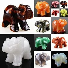 084 Carved kinds of stone elephant figurine