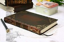 Vintage classic notebook blank diary journal Single line Retro note book