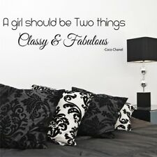 CLASSY AND FABULOUS CHANEL wall sticker quotes bedroom girls decals
