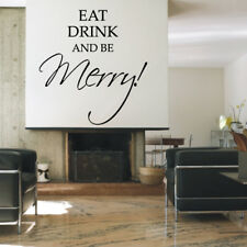 EAT DRINK AND BE MERRY wall quote dining room vinyl wall sticker decal