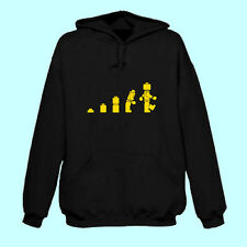 Evolution of Lego Man Funny Hoodie/Hoody TOP QUALITY HOODIES USED. LOTS OF SIZES