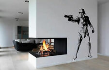 Stormtrooper Wall Art, Film,Iconic Image, Vinyl Sticker WA033 Storm Trooper