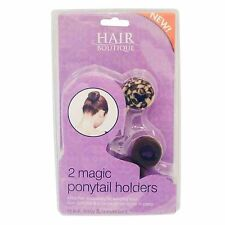 2 PACK Hair Ponytail Holder for Children Girls Ladies hair styles buns ponytails