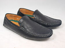 3027 Men's Casual Black Slip-on Shoes Brand New w/box Free S/H for USA