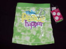 JUSTICE GIRLS 6 7 10 12 16 18 PEACE 3 WAY TOP  NWT $18.