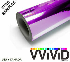 Chrome Purple Mirror Car Wrap Vinyl Film 53ftx5ft VViViD PCHR3M01 Air Release