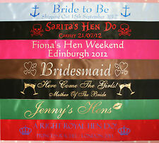 PERSONALISED HEN NIGHT PARTY SASHES
