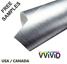 Brushed Aluminum Silver car wrap vinyl air free film choose your size vvivid8 3m