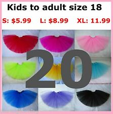 Lot 20 Girls/Ladies Tutu WHOLESALE Bulk Ballet Dancing Skirt Fairy Party Costume