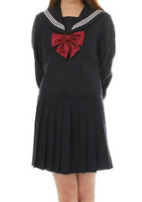 New Japanese Japan Korea School Girl Sailor Uniform Cosplay Costume Dress