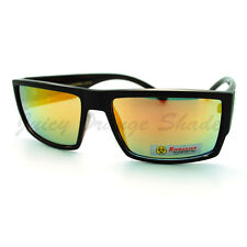 Mens Biohazard Sunglasses Flat Top Square Sporty Fashion Shades