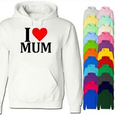 I Love Mum Perfect Mothers Day Gift for Mom Ma Premium Unisex Hoodie Hoody