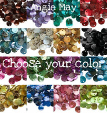 100 Natural Shell Coin Drops Charms 10mm ~ Pick your Color!