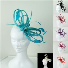 """Sinamay Fascinator """"Pearl"""" Value at just $39.95 Multiple Colour Options"""