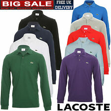 Lacoste L1312 Long Sleeves Mens Polo(100% Authentic)T-Shirt/Top/Shirt/Vest/Sweat