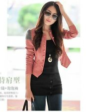 2013 Korean version of the new spring leather short paragraph Slim jacket