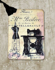 Hang Tags  FRENCH PARIS SEWING DRESS FORM TAGS or MAGNET #7  Gift Tags