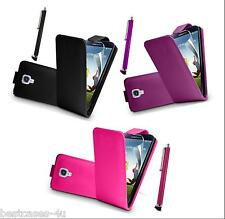 PU LEATHER FLIP CASE COVER WALLET FOR MOBILE PHONE & FREE SCREEN GUARD + STYLUS