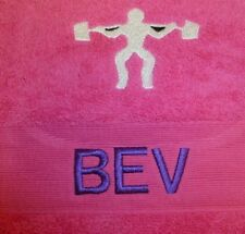 New Personalised Embroidered Weight Lifter Towel Name & Motif