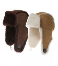 Ozwear UGG Button Aviator Hat In Chestnut or Chocolate