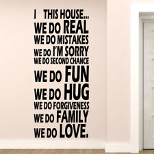 WE DO vinyl sticker house family kitchen quotes decal love hope wall art quote