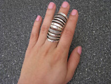 Silver Metal Armour Knuckle Cage Hinged Double Full Finger Shield Armour RING