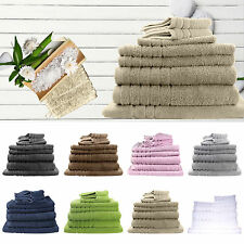 4 x Pure Cotton Bath Towels Value Pack 620gsm Hotel Quality Multi-Colours