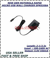 NEW OEM MOTOROLA UNIVERSAL RAPID MICRO USB WALL CHARGER SPN5358A PART 4