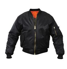 Mens Jacket - MA-1 Flight Style, Black by Rothco