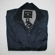 Converse Black Canvas Men's Jackets Coat Windbreaker Chuck Taylor #B311M800 NWT