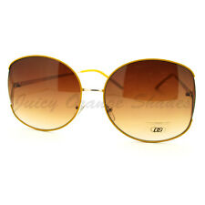 Celebrity Fashion Sunglasses Womens Oversized Round Thin Metal Frame