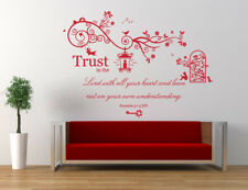 Proverbs 3 v 5 Bible Quote / Verse, Christian, Vinyl Wall Art Stickers, Bedroom