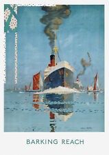 Barking Reach by Underground - old vintage London poster repro