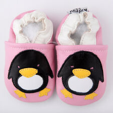 Baby Girl Infant Soft Sole Leather Pink Shoes Penguin G28 US0-7 0-6-12-24M
