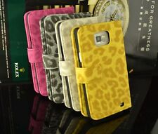 Leopard Print Flip Wallet Leather Case Cover For Samsung Galaxy S2 i9100