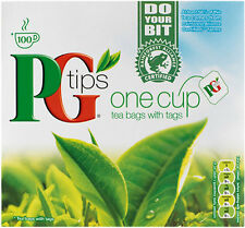 ORIGINAL PG TIPS TEA BAGS - 100 ONE CUP TEA BAGS