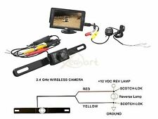 """Newest Wire or Wireless Waterproof CMOS Rear View Camera + 4.3"""" LCD Car Monitor"""