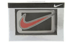 Nike Laser Etched Signature Swoosh Cutout Enamel Golf Casual Belt Buckle+Giftbox