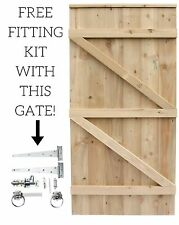 MADE TO MEASURE WOODEN GARDEN GATE  TANALISED HEAVY DUTY