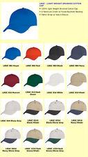 1 Dozen New Light Weight Brushed Cotton Hats Caps Hats wholesale lots any colors