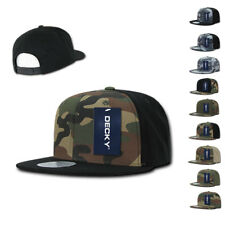 NEW Decky Camouflage Camo Flat Bill Baseball Hats Hat Caps Cap Cotton Snapback
