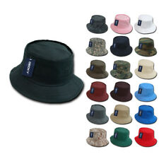 1 Dozen NEW Fisherman's Bucket Hat Hats Constructed Cotton Decky Wholesale Lot