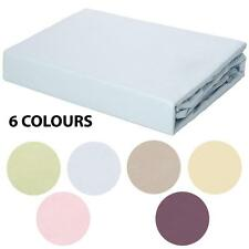 250TC 100% Certified Organic Cotton Fitted Sheet Set - 5 Bed Sizes - 6 Colours