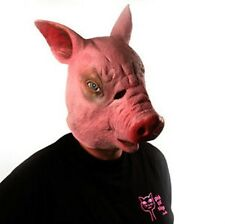 Pig Head Mask Latex Animal Costume Prop Toys Party Halloween Theater