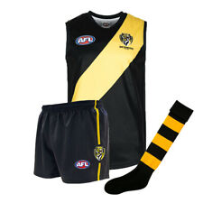 Official AFL Footy Richmond Tigers Kids Youth Auskick Jumper Guernsey Shorts Soc